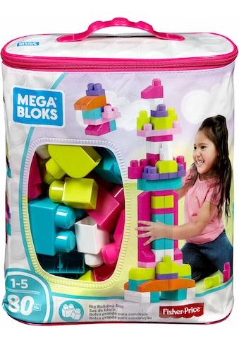 """MEGA BLOKS Spielbausteine """"Mega Bloks Bausteinebeutel, Groß 80 Teile, pinkfarben"""", Kunststoff, (80 - tlg.) kaufen"""