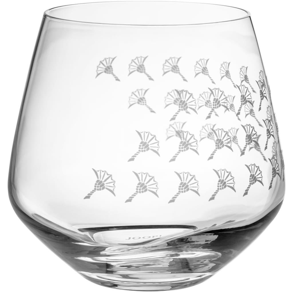 Joop! Tumbler-Glas »JOOP! FADED CORNFLOWER«, (Set, 2 tlg.), mit Kornblumen-Verlauf als Dekor, 2-teilig