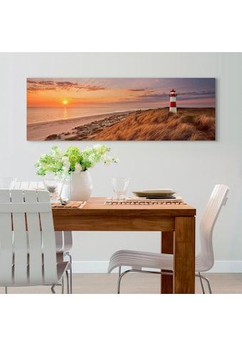 Holzbild »Deco Panel 52x156 Lighthouse Sunset« kaufen
