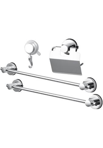 Badaccessoires - Sets »HOOKIE System® 4 - teilig«, Handtuchstangen, Toilettenpapierhalter und Haken kaufen