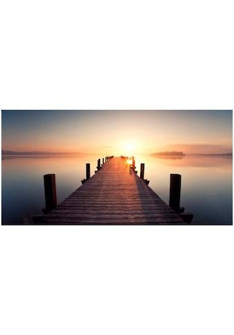Art & Pleasure Holzbild »Sunset jetty« kaufen
