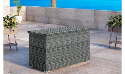 BAIDANI Auflagenbox »Ronde«, 144x70x82 cm (B/T/H), Aluminium/Polyrattan kaufen