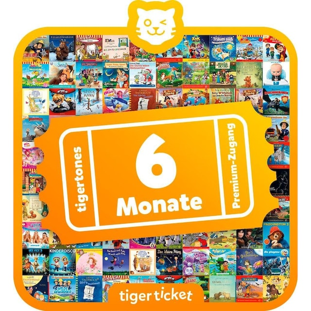 tigerbox Hörspiel, »tigerticket 6 Monate tigertones Premium-Zugang«