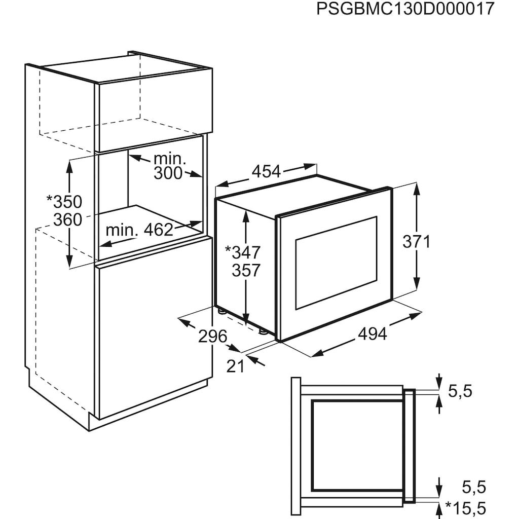 AEG Einbau-Mikrowelle »MBB1755SEM«, Mikrowelle, 800 W, Touch-Bedienung