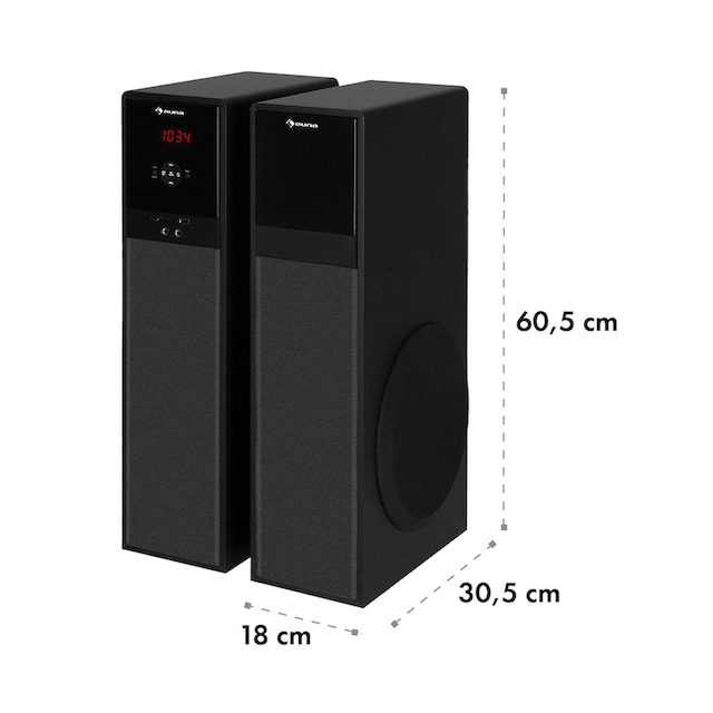 Auna Line 100 A 2.0 Standlautsprecher, 3-Wege, 2 x 80 Watt »MM-2.0-MBK«
