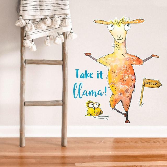 Wandtattoo »Take it llama«