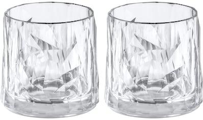 KOZIOL Whiskyglas »CLUB No. 2«, (Set, 2 tlg., 2er Set), tolles Facettendesign,... kaufen