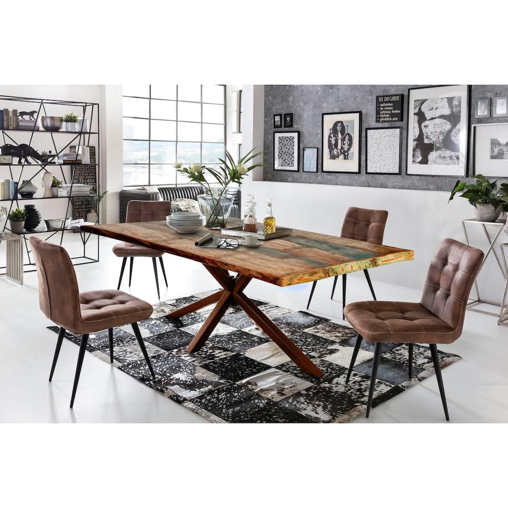 SIT Esstisch »Tops&Tables«, mit Tischplatte aus Altholz mit Farbresten