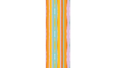 QUEENCE Vinyltapete »Streifen - Bunt«, 90 x 250 cm, selbstklebend kaufen