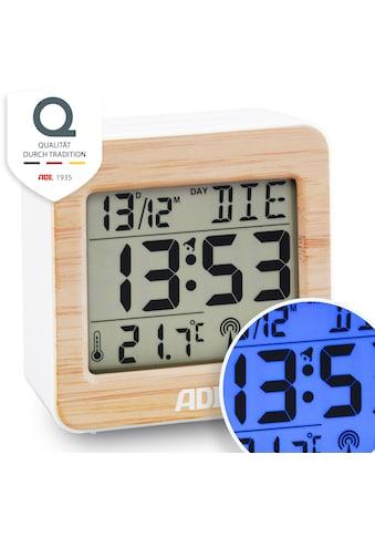 ADE Funkwecker »CK1941«, (1 tlg.), Bambus Funkwecker mit Temperatur- und Datumsanzeige kaufen