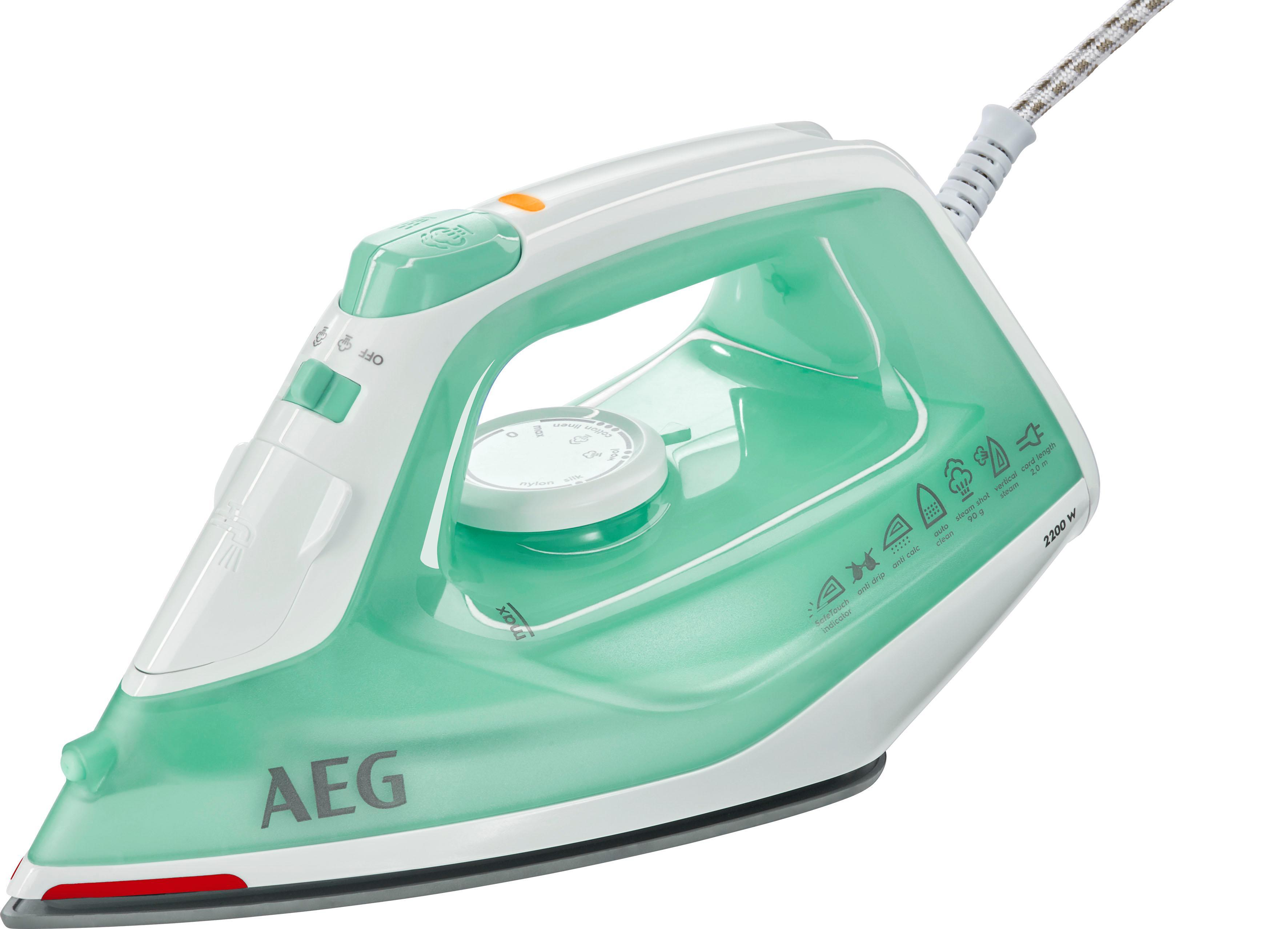 AEG Dampfbügeleisen EasyLine DB 1720, 2200 Watt | Flur & Diele > Haushaltsgeräte > Bügeleisen | Grün | AEG