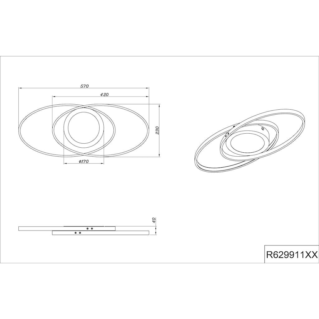TRIO Leuchten LED Deckenleuchte »Galaxy«, LED-Board, 1 St., Warmweiß, Switch Dimmer