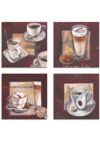 Artland Leinwandbild »Kaffee I, -II, -III, -IV«, Getränke, (4 St.) kaufen