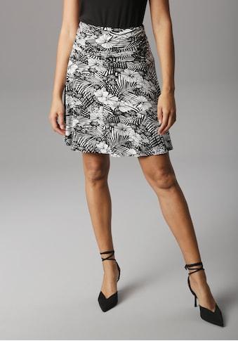 Aniston SELECTED Sommerrock, mit seitlicher Raffung und breitem Bund kaufen