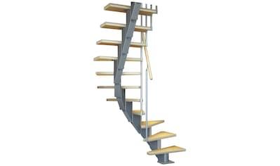 DOLLE Mittelholmtreppe »Frankfurt Birke 65«, bis 301 cm, Metallgeländer, versch. Ausführungen kaufen
