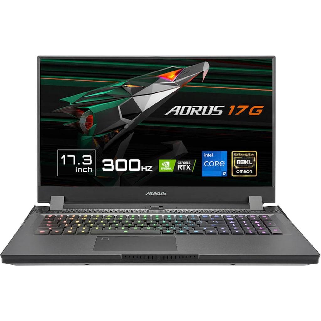 "Notebook »AORUS 17G KD-72DE325SH«, (43,94 cm/17,3 "" Intel Core i7 GeForce RTX™ 3060\r\n 512 GB SSD), Kostenloses Upgrade auf Windows 11, sobald verfügbar"