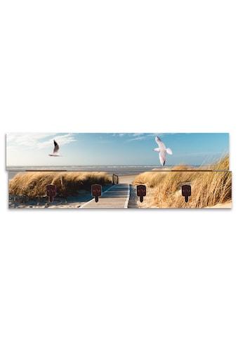 Artland Garderobenpaneel »Nordseestrand auf Langeoog mit Möwen« kaufen
