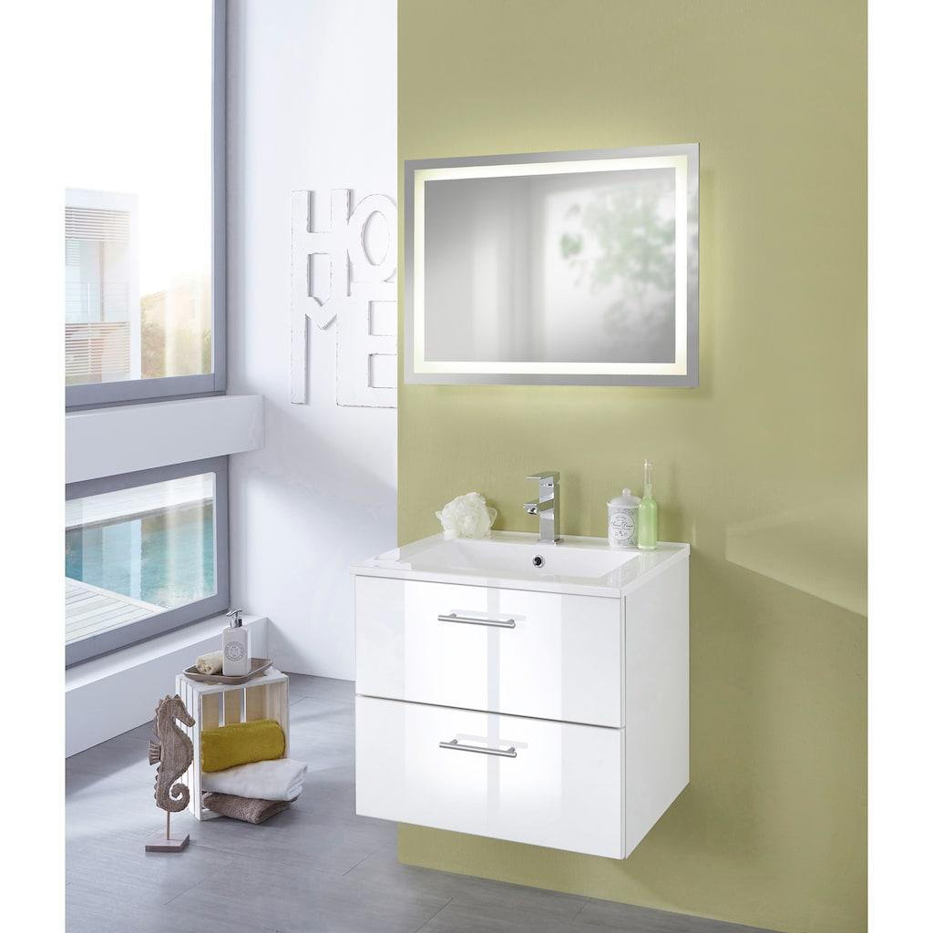 welltime Badspiegel »Trento«, LED-Spiegel, 80 x 60 cm