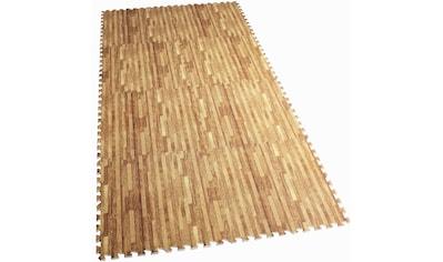 GORILLA SPORTS Bodenschutzmatte »Schutzmattenset mit acht Teilen Holzoptik«, (Set, 8),... kaufen