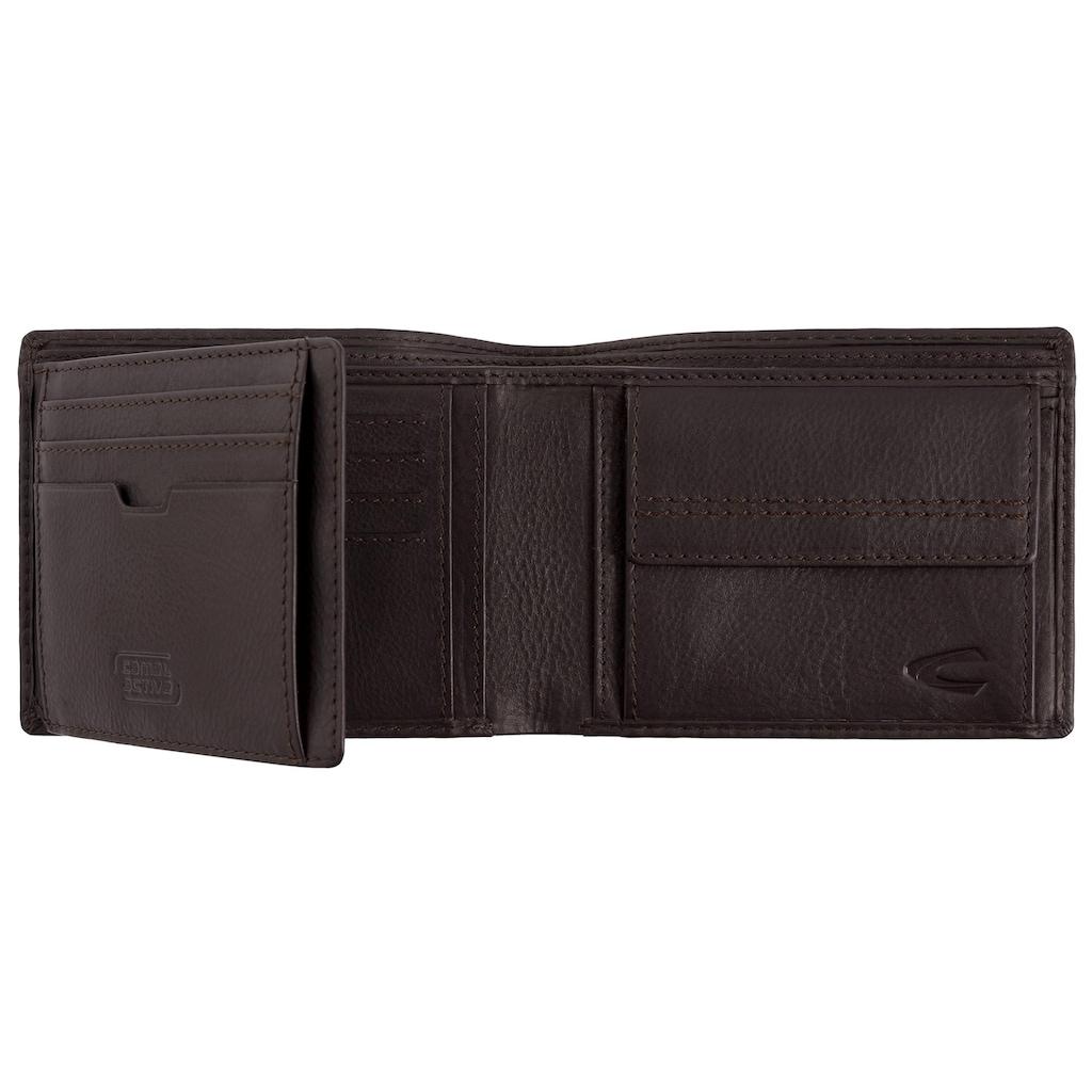 camel active Geldbörse »MANILA«, Geschenk-Set aus Leder mit Schlüsselanhänger in dekorativer Box