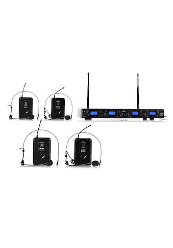 Auna 4 - Kanal UHF - Funkmikrofon - Set »UHF - 550 - 2« kaufen