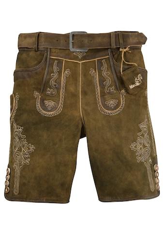Marjo Trachtenlederhose kurz Herren in weicher Lederqualität kaufen