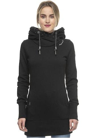 Ragwear Sweater »LILAH«, Kapuze mit überkreuztem Schalkragen und bedrucktem Kapuzeninnenfutter kaufen