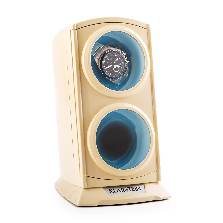 Klarstein Premium Uhrenbeweger Watch Winder Uhrendreher 2 Uhren LED »St. Gallen« | Uhren > Uhrenbeweger | Weiß | KLARSTEIN