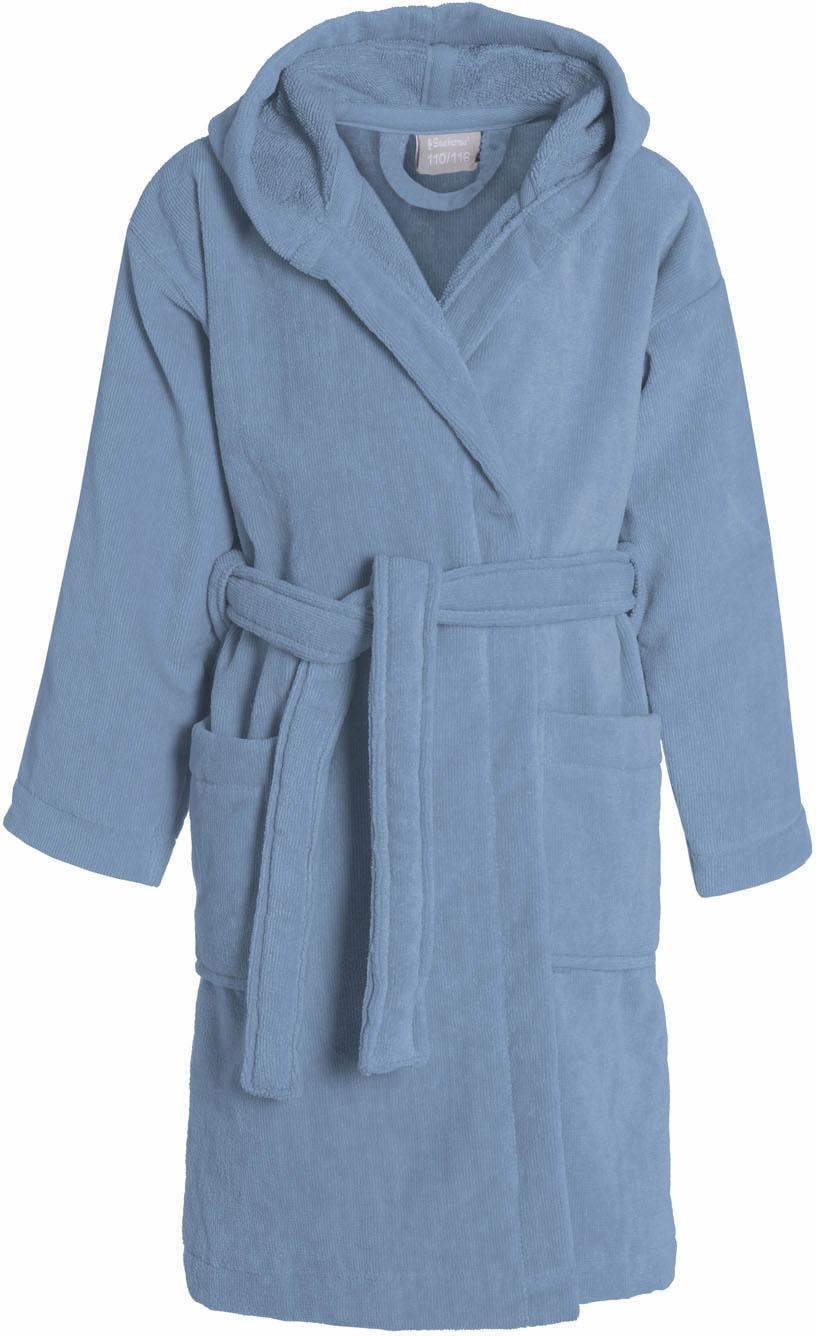 Kinderbademantel, Seahorse, »Pure«, mit Kapuze | Bekleidung > Wäsche > Bademäntel | Blau | Baumwolle | SEAHORSE
