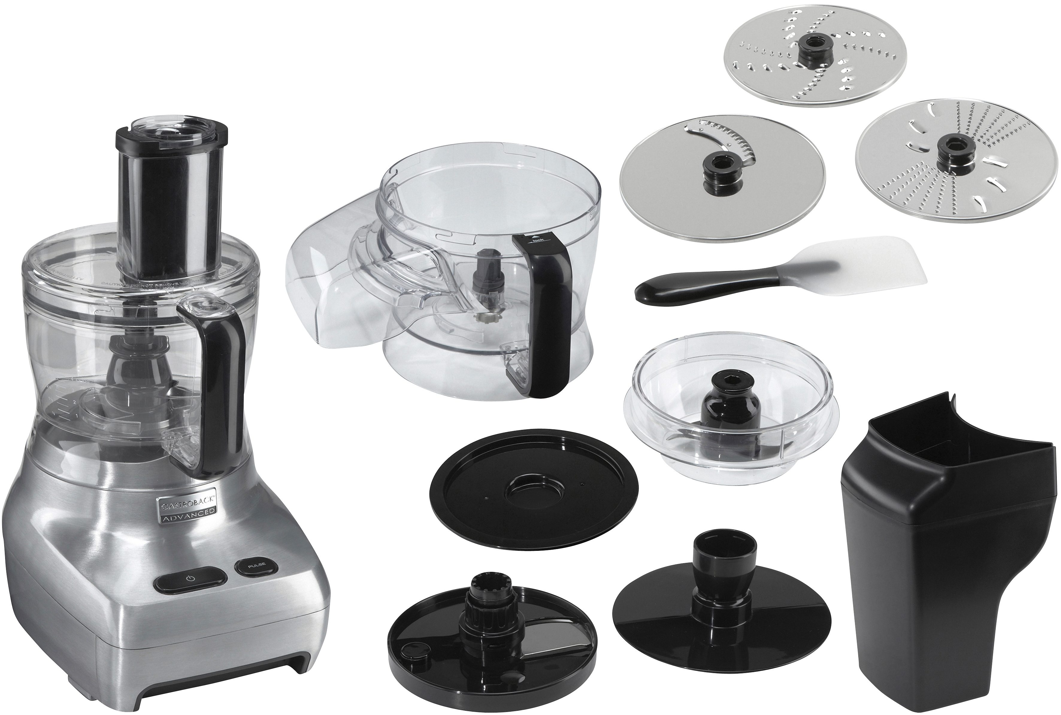 Gastroback Kompakt-Küchenmaschine Design Food Processor Advanced 40965, 1100 Watt, Schüssel 2 Liter   Küche und Esszimmer > Küchengeräte > Rührgeräte und Mixer   Gastroback