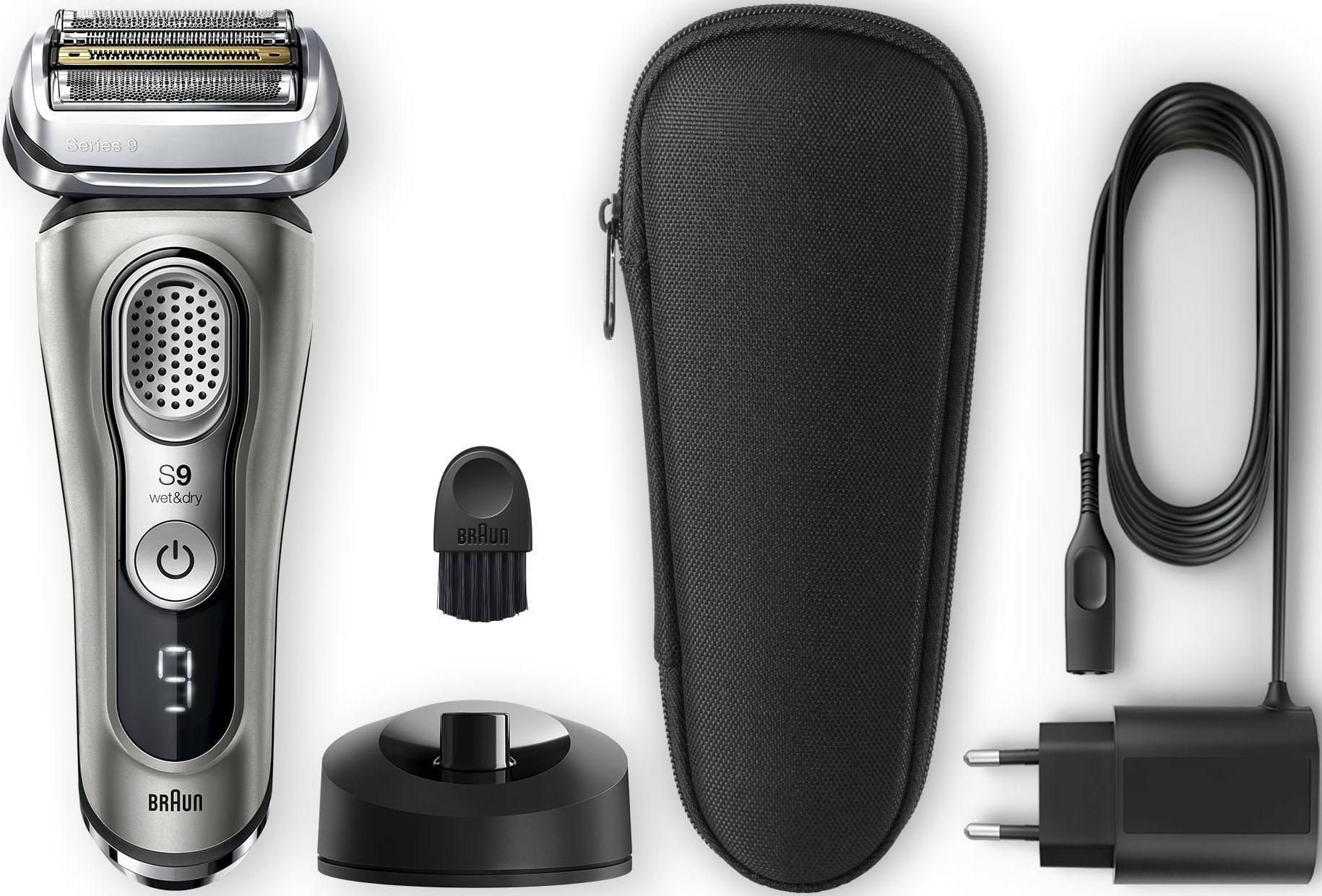 Braun Elektrorasierer Series 9 9345s , SmartClick-Präzisionstrimmer, mit Ladestation