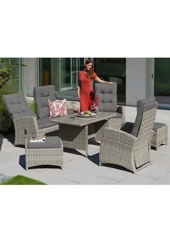 KONIFERA Gartenmöbelset »Monaco«, 16 - tlg., 2er Sofa, 2 Sessel, 2 Hocker, Tisch, Polyrattan kaufen