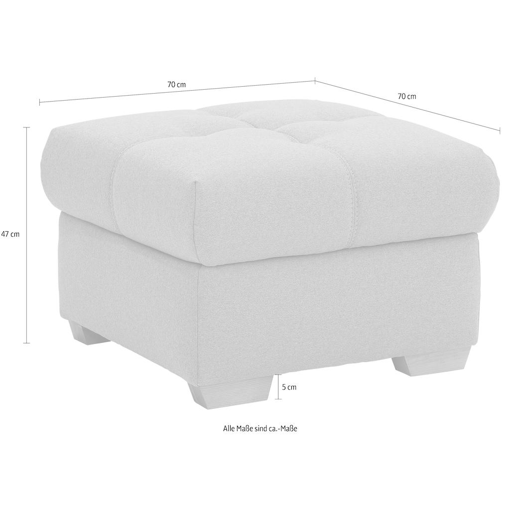 """Home affaire Polsterhocker »Lotus Home Luxus«, passend zu """"Lotus Home Luxus"""", bis 140kg belastbar,wahlweise mit Stauraum und Aqua Clean-Bezug zur leichten Reinigung mit Wasser"""