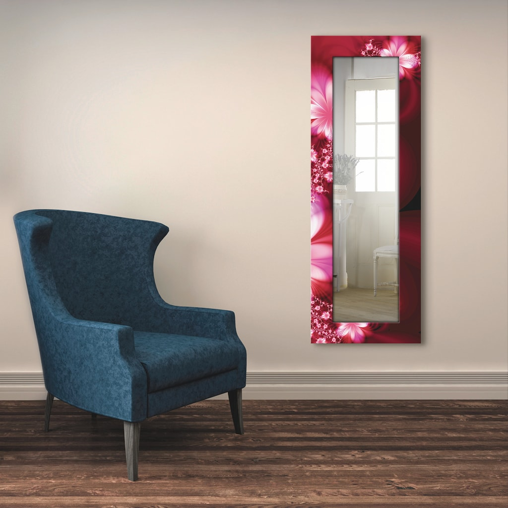 Artland Wandspiegel »Girlande aus Blumen«