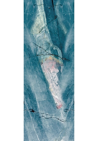 QUEENCE Vinyltapete »Marmor - Blau«, 90 x 250 cm, selbstklebend kaufen