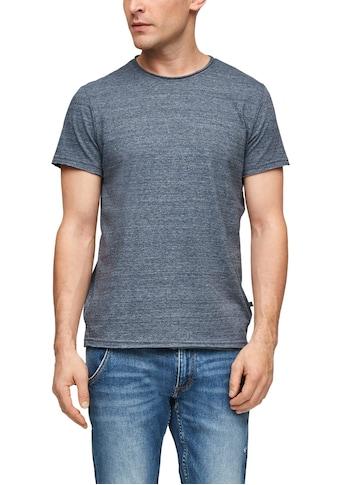 Q/S designed by T-Shirt, in melierter Optik kaufen