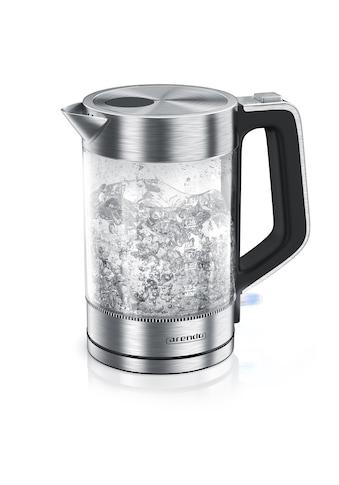 Arendo Edelstahl Glas Wasserkocher, 1,7 Liter, 2200W, Cool - Touch - Griff »Solid« kaufen