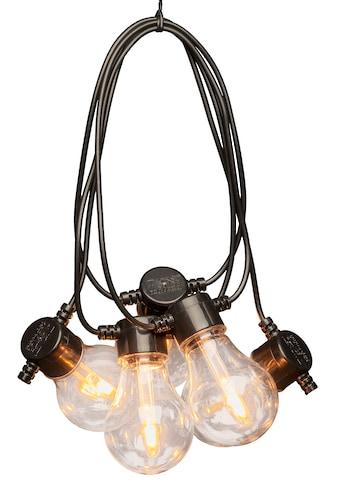 KONSTSMIDE LED-Lichterkette, 20 St.-flammig, LED Biergartenkette, klar, mit Dimmer, 10... kaufen