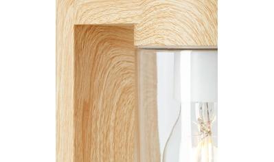 Brilliant Leuchten Außen-Wandleuchte, E27, Cabar Außensockelleuchte 55cm natur/weiß kaufen
