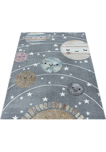Ayyildiz Kinderteppich »FUNNY 2105«, rechteckig, 11 mm Höhe, Kinder Mond Sterne Motivteppich kaufen