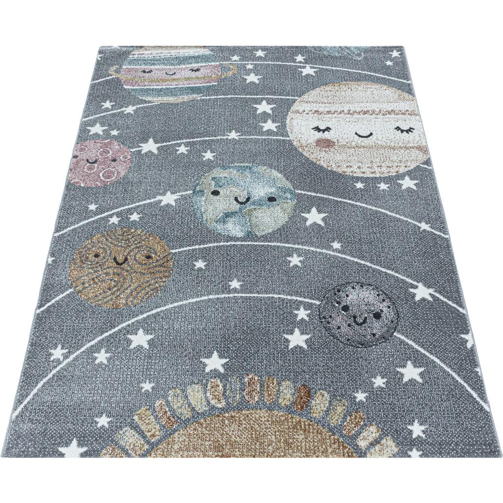 Ayyildiz Kinderteppich »FUNNY 2105«, rechteckig, 11 mm Höhe, Kinder Mond Sterne Motivteppich