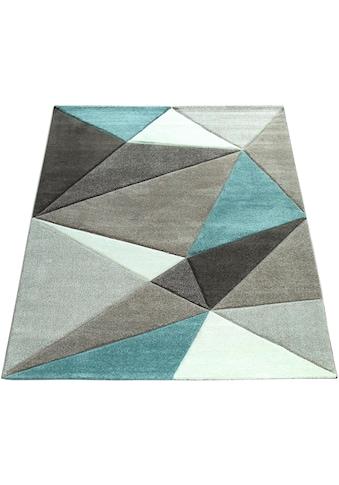 Paco Home Teppich »Lara 237«, rechteckig, 18 mm Höhe, Kurzflor mit Konturenchnitt,... kaufen