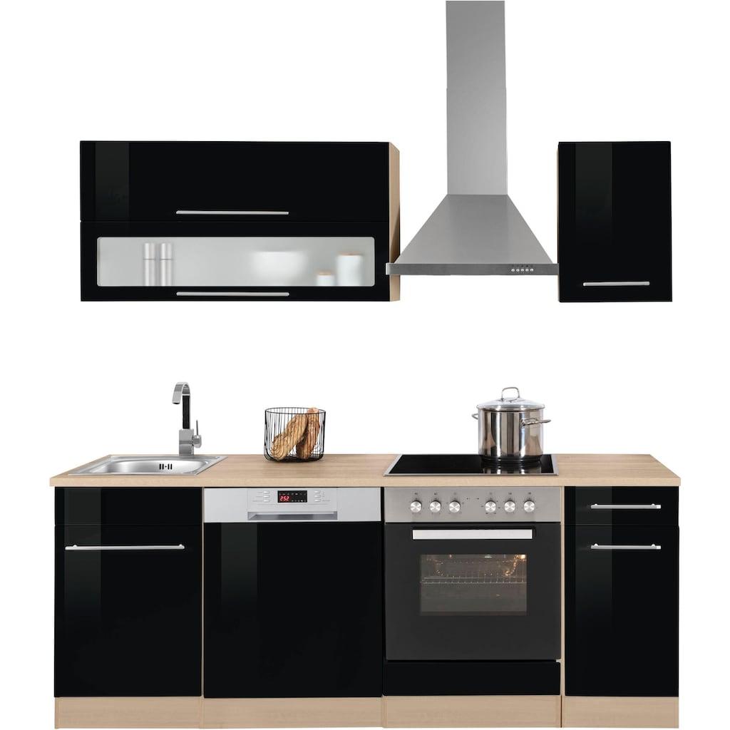 HELD MÖBEL Küchenzeile »Eton«, ohne E-Geräte, Breite 210 cm