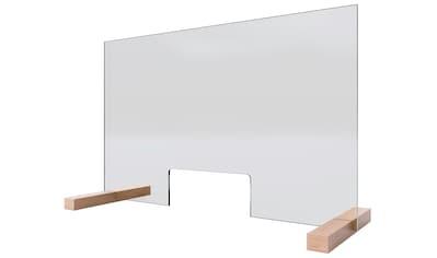Schulte Stellwand »Glaswand«, Praktische Durchreiche von 250 x 110 mm, 5mm starkes Sicherheitsglas (ESG) kaufen