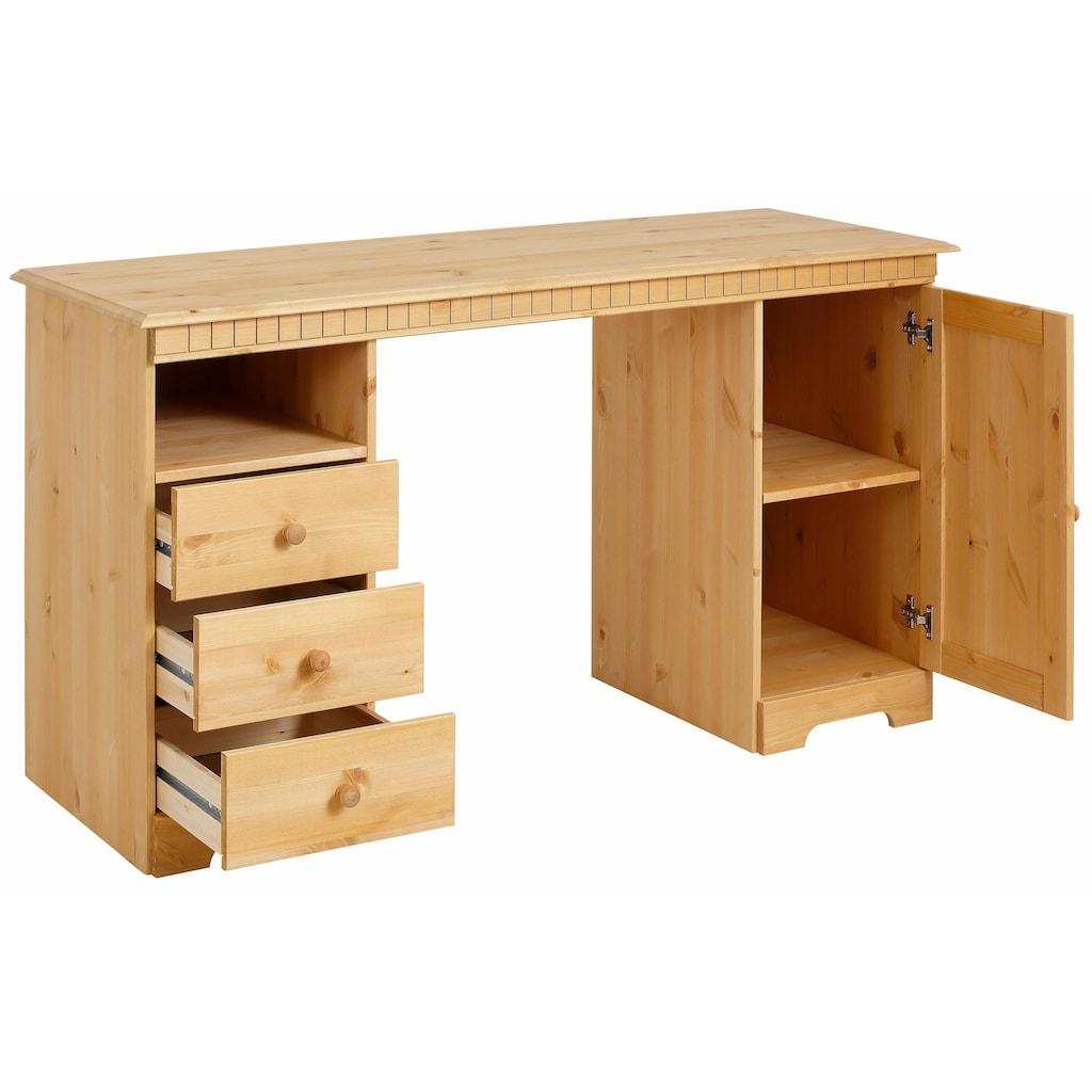 Home affaire Schreibtisch »Lisa«, erstrahlt in einer schönen Holzoptik, Breite 140 cm