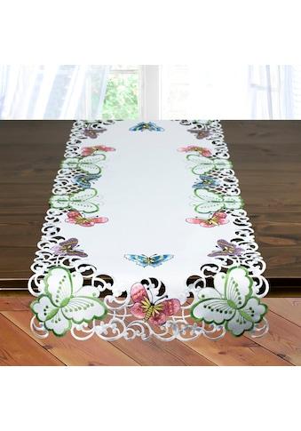 Tischläufer, »Bunte Schmetterlinge«, Delindo Lifestyle kaufen