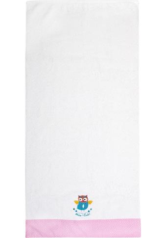 ADELHEID Handtücher »Kleine Eule Handtuch«, (2 St.), mit Bordüre und Stickerei kaufen