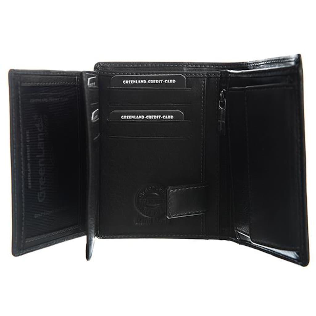 GreenLand Nature Geldbörse »Black Nappa«, mit RFID-Abschirmmaterial