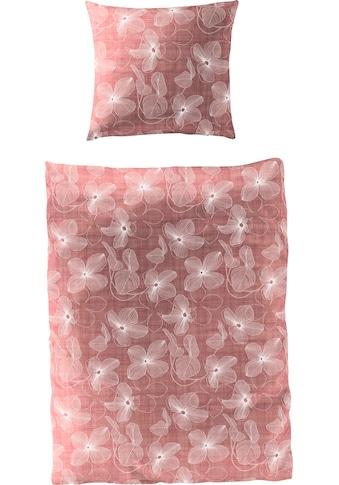 BIERBAUM Bettwäsche »Soft Red Flowers«, mit floralem Print kaufen