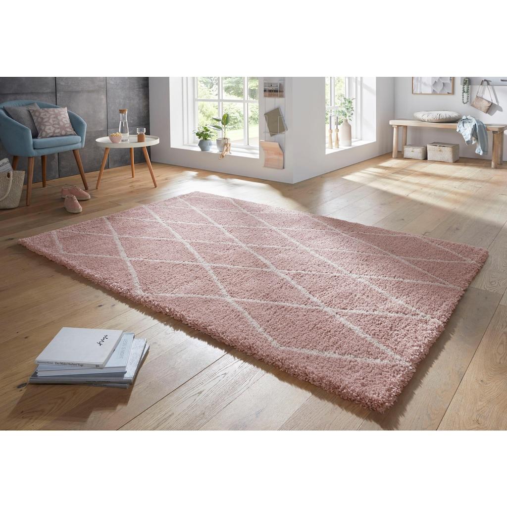 freundin Home Collection Hochflor-Teppich »Truth«, rechteckig, 35 mm Höhe, Langflor mit Skandi Look